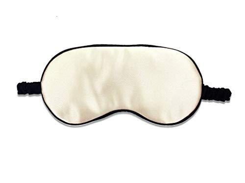 Luxus Beige Satin Schlafmaske Augenmaske für den Schlaf Unisex Fun Satin Schlafmaske Grau Night Eyeshade Weiches Gummiband mit elastischem Gurt