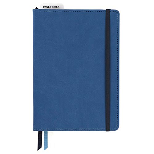 C.R. Gibson Blue Leatherette Freestyle Organizer and Planner Dot Grid Notebook, 6'' W x 8.5'' L, 240 Pages