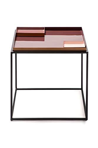 One Couture Table d'appoint, Fer, Violet/Rose/Rose, 40cm x 40cm x 40cm