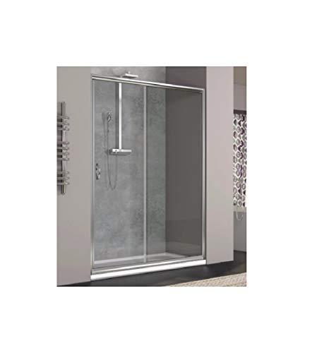GRANISUD Douchecabine van gehard kristalglas 6 mm voor Nicchia 1 zijde, schuifdeur opening, omkeerbaar, DX/SX, breedte 130 cm, hoogte 190 cm, transparant