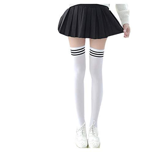 Lange Overknee Strümpfe FORH Damen Gestrickt über Knie lange Stiefel Oberschenkel warme Socken Leggings Thigh High College Knie Socken Stricken Sport Socken Stocking Pantyhose (Khaki)