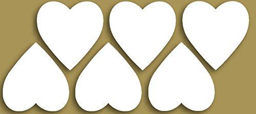 Styropor Figuren Set, 4-6cm - Herz. Dekoset, Bastelset, Wanddeko, Dekorset