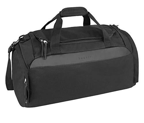 Bugatti Horizon Sporttasche für Damen und Herren Klein, Unisex Reisetasche, Schwarz