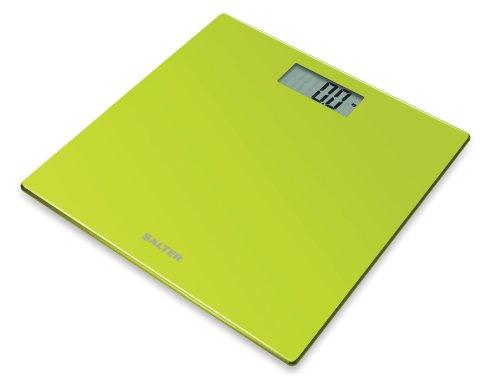 Salter Coloured Glass - Báscula de baño digital, 180 kg, color verde