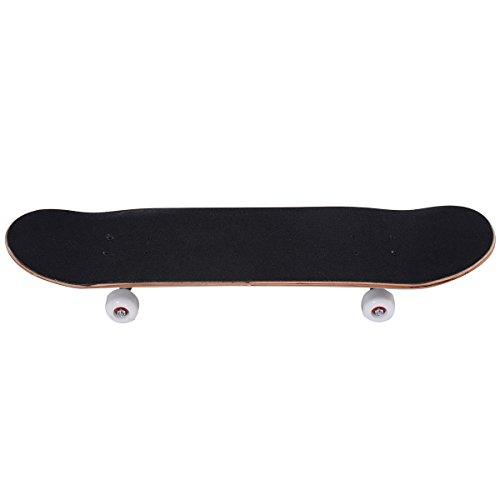 GOPLUS Skateboard Komplettboard Mini Cruiser Funboard Ahornholz 79 x 20cm (blau)