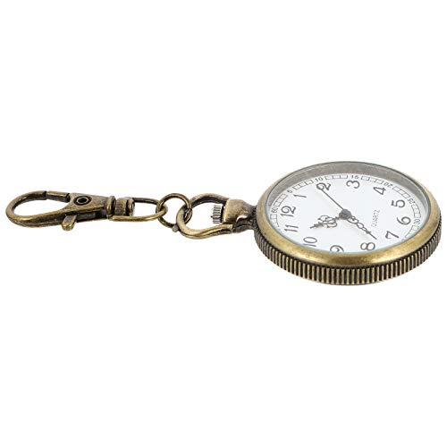 iplusmile Relojes de Enfermera Clip de Metal en Relojes de Enfermería Solapa Pin en Relojes Fob Relojes Colgantes Redondos para Decoración Marrón