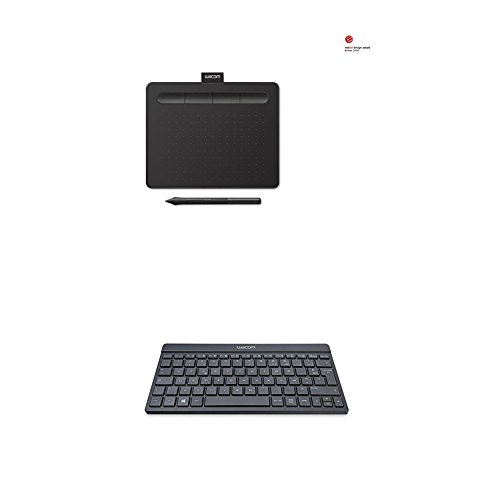 Wacom CTL-4100K-S Intuos Tavoletta Grafica con Penna, Software Creativo Incluso, Small, Cavo USB, Nero + Wacom Tastiera Bluetooth