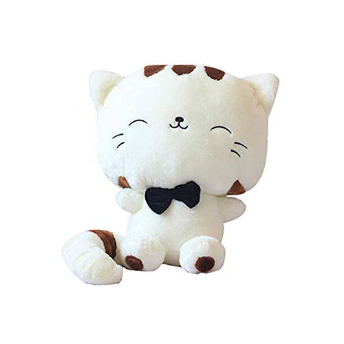 STONCEL 18' 46CM Tail Cute Plush Stuffed Toys Cushion Fortune Cat Doll (Beige Color)