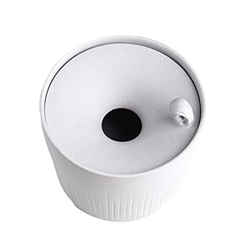 ANMJJ Cenicero de Ceramica con Tapa,Cenicero Multifunción,Cenicero de Mesa,para Uso Interior y Exterior,Blanco