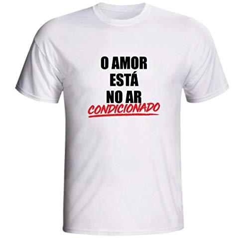 Camiseta O Amor Está No Ar Condicionado Engraçada