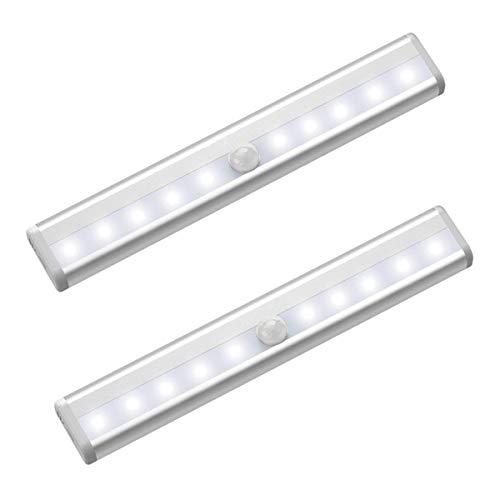 センサーライト 室内LED人感センサーライト高輝度 USB充電式 マグネット付き 工事不要 貼り付け型 階段 クロゼット ロッカー 玄関 洗面所 自動点灯 防災 地震 停電対策 屋内照明両用 2個入り