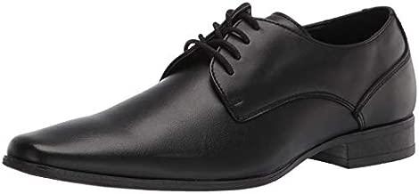 Calvin Klein Men's Brodie Oxford Shoe, Black Burnished Dress Calf, 11 Medium US