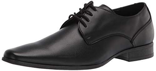Calvin Klein Men's Brodie Oxford Shoe, Black Burnished Dress Calf, 8.5 Medium US