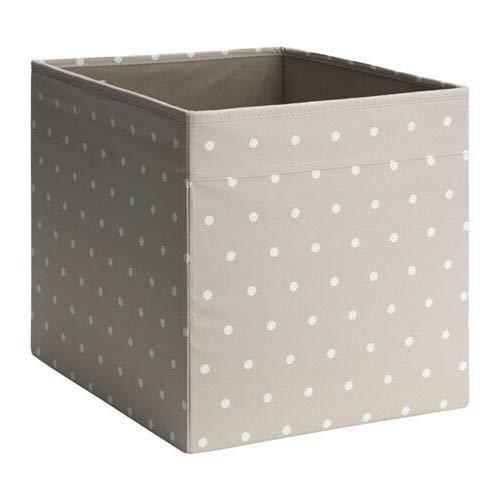 Generisch IKEA Dröna Aufbewahrungsbox für Kallax Regale Box Fach Kiste 33x38x33 cm (Beige Punkte)