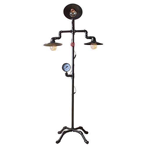 DSM Lámpara de pie de Estilo Industrial Estilo Europeo Chalet Retro Sala de Estar Hotel Dormitorio Tienda de Ropa Creativa 158 cm (Color : B)