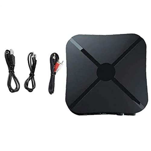 Naisedier Receptor de transmisor inalámbrico, Adaptador de Audio de Baja latencia de 2 in-1 3.5 mm para TV sin demora en la transmisión