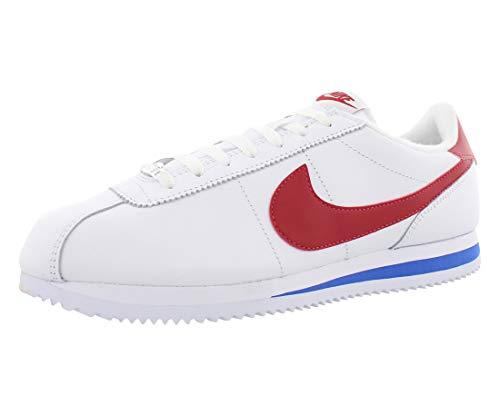Nike Classic Cortez Leather, Zapatillas de Deporte Hombre, Varios Colores (White / Varsity Red Varsity Roya), 42 EU