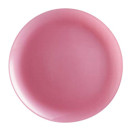 Luminarc Arty - Juego De Vajilla De Cristal De Ópalo Translúcido (18 Piezas, 6 Platos De Cena, Rubor, Color Translúcido