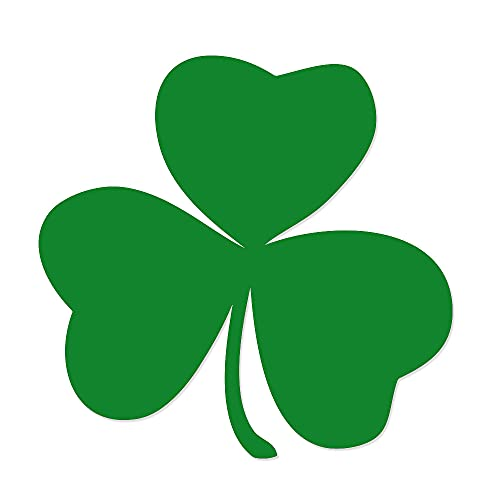 Irish Lucky Shamrock Vinyl Decal for Car Truck Glass Window Laptop Electronics - 4' Green