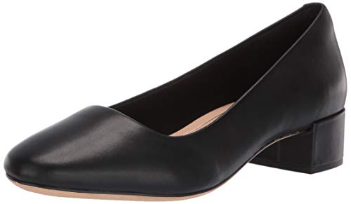 Clarks Women's Orabella Alice Pump, Black Leather, 90 M US