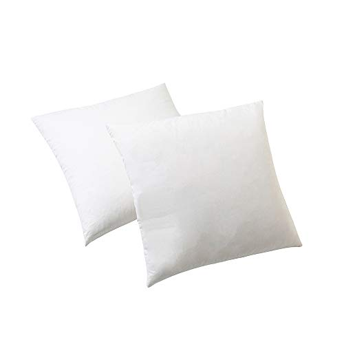 Hophor Hotel Grade Best Pillows 2 Pack Luxury Plush Bed Pillow Natural Duck Down Feather White Square Pillow for Sleeping