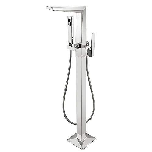 QuRRong Floor Mounted Badkuip Tap Douche Systeem Gratis Staande Controle van de mix van warm en koud water voor Home Hotels