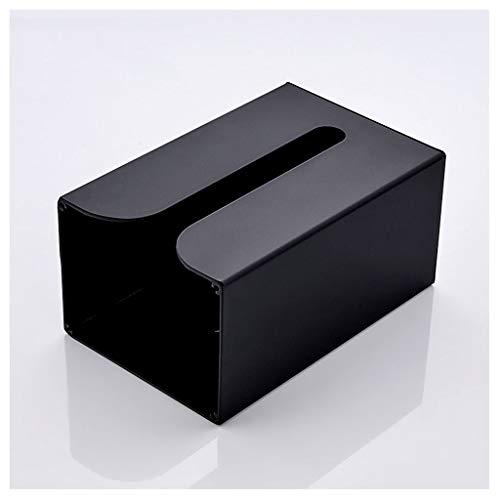 jinrun Dispensador de Toallas Negro La Cocina Simple Caja del Tejido del hogar Multifuncional Al revés la Caja del Tejido de baño Colgante de Pared de la Caja de Papel Caja de pañuelos