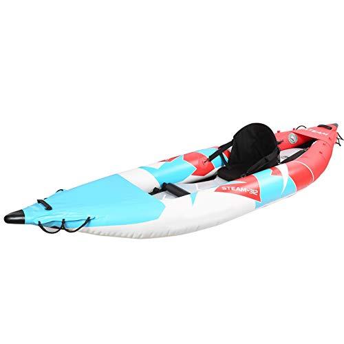 Gonfiabile KA 3color V Shape Head PVC Pesca 1 Persona Air Rowing Boat Drifting Surfing...