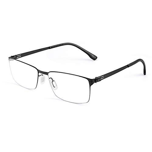 HQMGLASSES Gafas Lectura Titanio Puro Ultraligero del Hombres Gafas de Lectura al Aire Libre fotocrómica, Gafas Lentes de Resina multifocal progresiva HD /UV400 dioptrías +1.0 a +3.0,Negro,+2.5