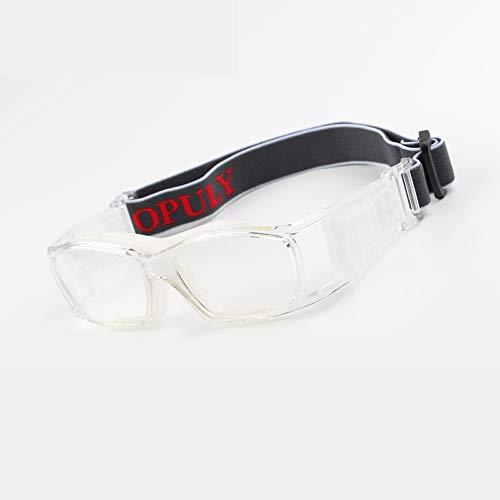 EnzoDate Vintage Basketball Gläser Slimfit Schutzmaßnahmen Sport Schutzbrillen (transparent)