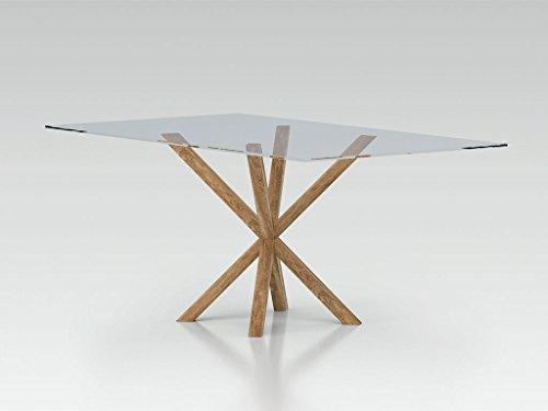 ZAMAGNA - Narciso Tavolo Moderno con Piana in Vetro