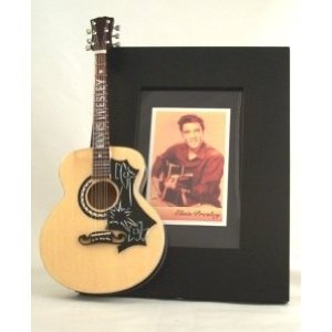 ELVIS PRESLEY Miniatur Gitarre Foto Rahmen