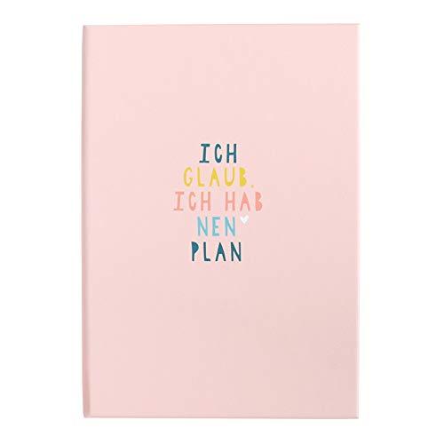 Odernichtoderdoch Sticky Notes Book 'Ich glaub, ich hab 'nen Plan' - Notizbuch mit Klebezetteln für Notizen - Maße A5 13 x 19 cm
