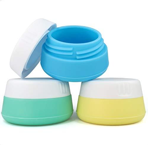 EQUIPT Silikon Behälter mit Schraubverschluss | Ideal als Creme Dose, Tabletten Behälter, Schmuck Döschen, UVM. | Praktisch für Reisen und Zuhause | 3 x 20 ml | 3er Set
