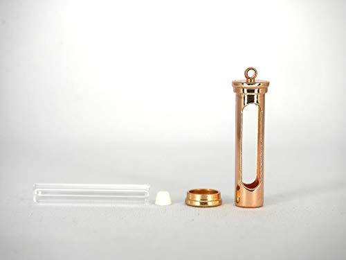 封入できる魔法のシリンダーチャーム (ガラス管/栓/メタルフレーム セット)ガラスドーム/ランタン/砂時計/小瓶/ガラス瓶/ハーバリウム
