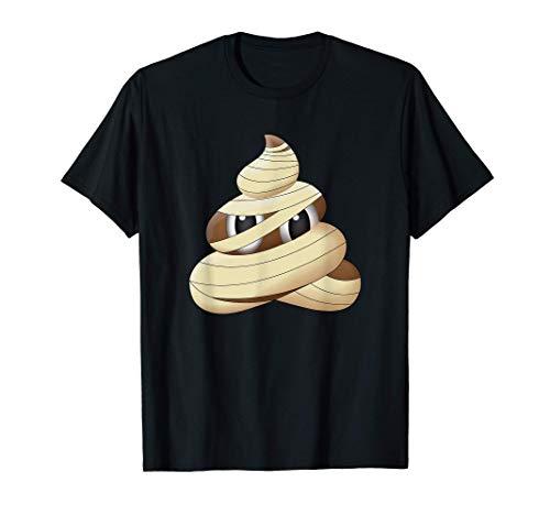 Disfraz de momia de caca divertida Emoji de Halloween Camiseta