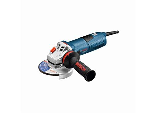 Bosch Professional 060179F002 Smerigliatrice angolare GWS 13-125, Numero Vuoto: 11.500 Giri/min, Confezione in Cartone, 1300 W, Blu (Bleu)