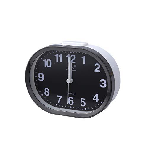 Relógio de mesa LIOOBO analógico despertador ao lado da mesa, despertador de viagem, despertador infantil (cor aleatória)