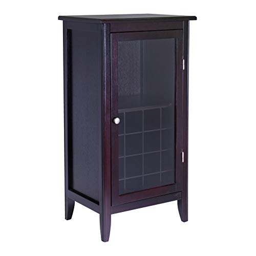 Hot Sale Winsome Wood Wine Cabinet with Glass Door, Espresso