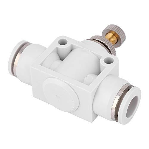 Conector de acelerador de acoplamiento rápido de válvula de control de velocidad de aire blanco de 2 piezas para herramienta neumática a alta temperatura y alta presión(8)