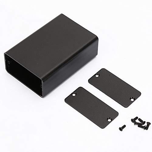 Caja de instrumentos de placa de circuito impreso de aluminio Aramox Caja de proyecto electrónico Negro mate