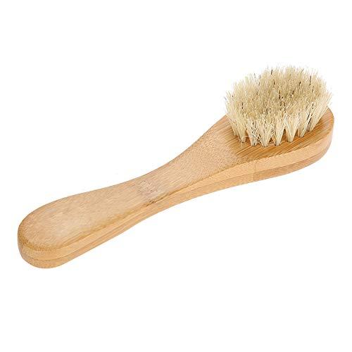 Cepillo Facial de Madera, Cepillo de Limpieza Facial Exfoliación Facial Limpieza de la Piel Cerdas Naturales Cepillos Faciales Exfoliantes