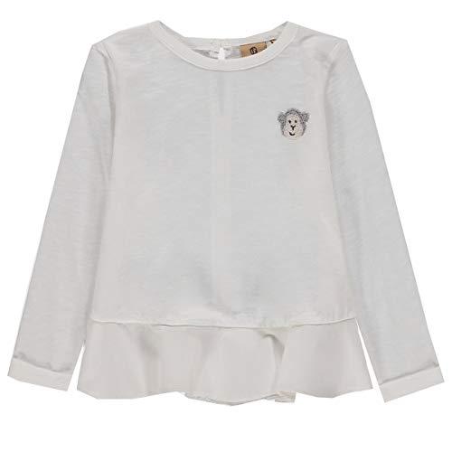Bellybutton mother nature & me 1/1 Arm T-Shirt À Manches Longues, Blanc (Cloud Dancer|White 1610), 62 Bébé Fille