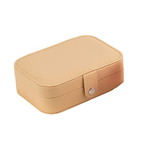 Caja de joyería de doble capa, portátil, para el hogar, anillo organizador de pendientes