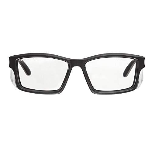 voltX 'Vision' Sicherheitsleser, Vollverglaste Sicherheitsbrille (+1.5 Dioptre, klare Linse) CE EN166ft Zertifiziert - beschlagfreie UV400 Linse