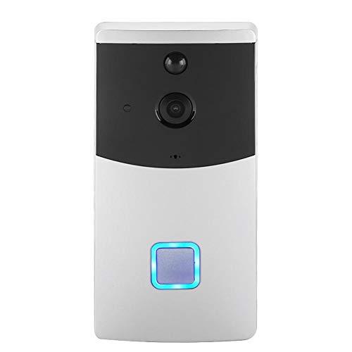 Draadloze video-deurbel, wifi smart ring-deurbel, 720P HD-beveiligingscamera voor thuis met tweewegs-gesprek, PIR-bewegingsdetectie, nachtzicht, voor iOS Android.