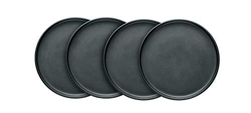 Stone Lain Stoneware Round Salad Plates Set, Gray Matte