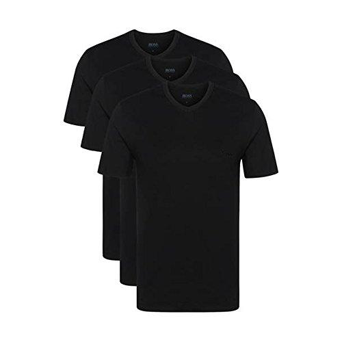 BOSS Hugo 3er Pack V Neck V Ausschnitt M 3 x schwarz T Shirts Farbe 001 Vorteilspack