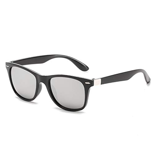 Gafas de sol cuadradas de pesca para niños de 2020, estilo vintage, unisex, estilo retro, UV400, lentes de espejo, 7 DJ6633 C3