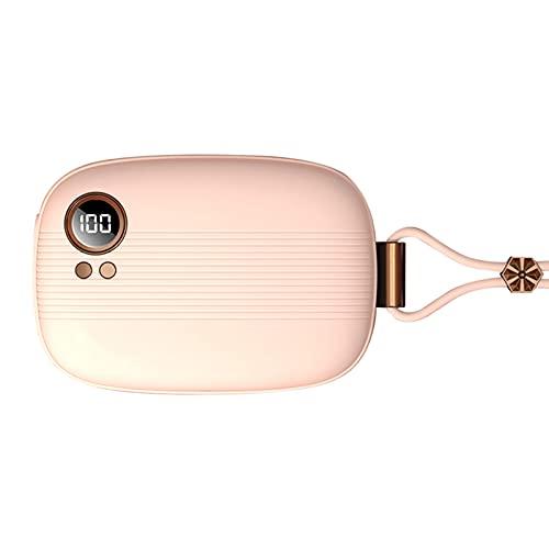 HPRM Calentador de Mano Recargable, Banco de energía Mini Calentador de Manos eléctrico, Ideal para al Aire Libre y resfriado, Travel Herramienta de Calentamiento práctico, 10000mAh